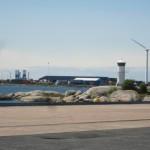 En liten sjöbild över utehamnen i Göteborg